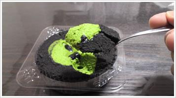 プレミアム宇治抹茶と黒胡麻のロールケーキ3